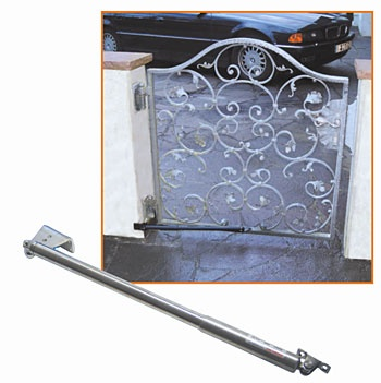 Special door closers for hinged doors without frame
