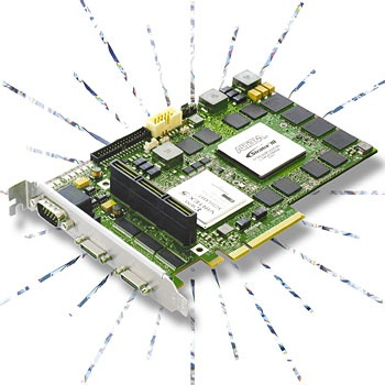 Matrox Radient - Camera-Link Framegrabber with FPGA-based image-processing offload