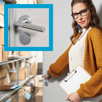 No keys — and no stock-room thieves — when you fit a Code Handle® digital PIN lock